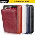 Marca imuca casos de telefone para lg g2 mini d620 d410 case flip vertical capa protetora case para lg g2 mini flip cobrir
