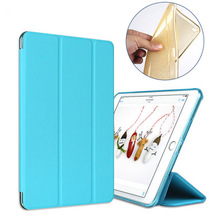 Case for Apple ipad Air 2 PU Leather glitter soft silicone back cover tablet PC case ultrathin TPU coque A1566 A1567