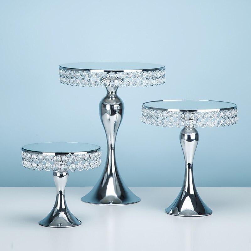 1 pièces-5 pièces miroir cupcake miroir gâteau stand ensemble couleur argent & or affichage doux gâteau décoration