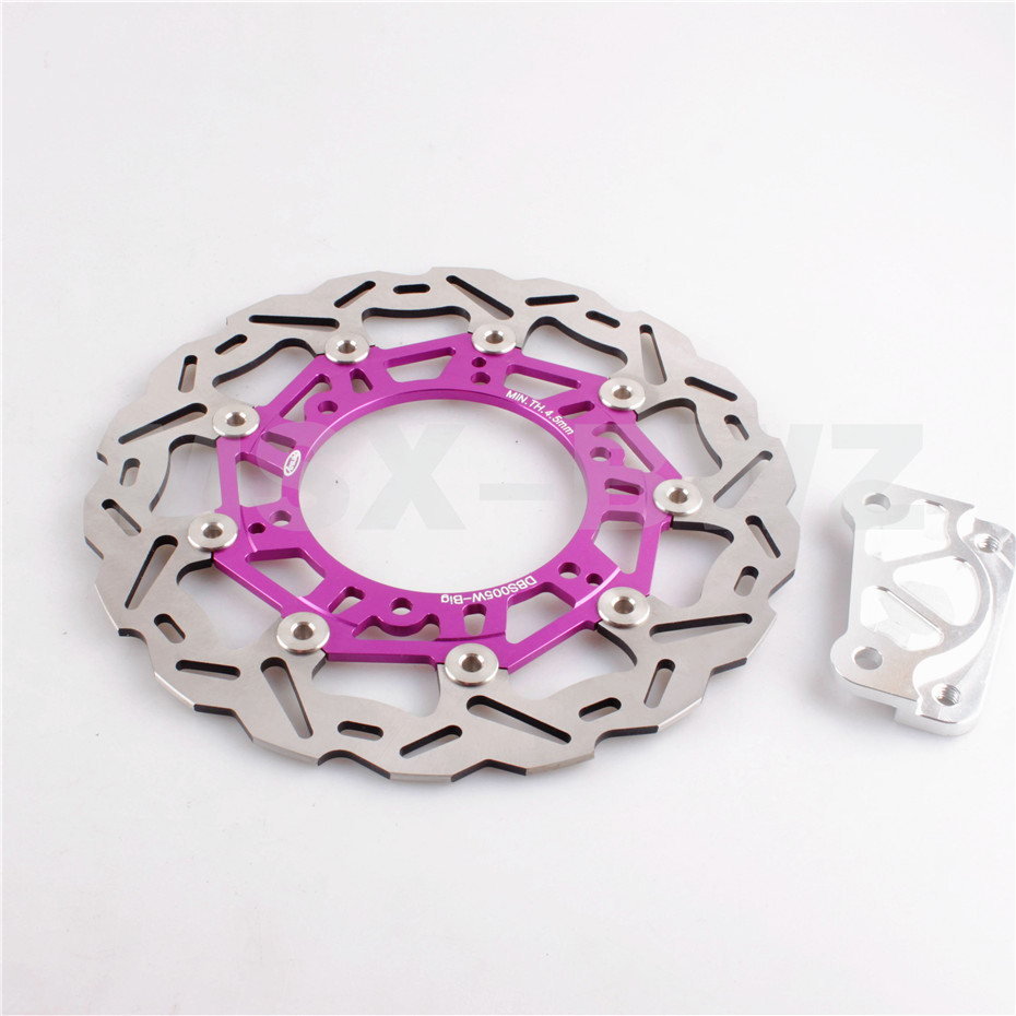 Front Brake Disc Rotor For Yamaha YP MAJESTY 96-97 DX250 98-99 DX ABS 250 99-05 1996 1997 1999 2000 2001 2002 Styling Purple