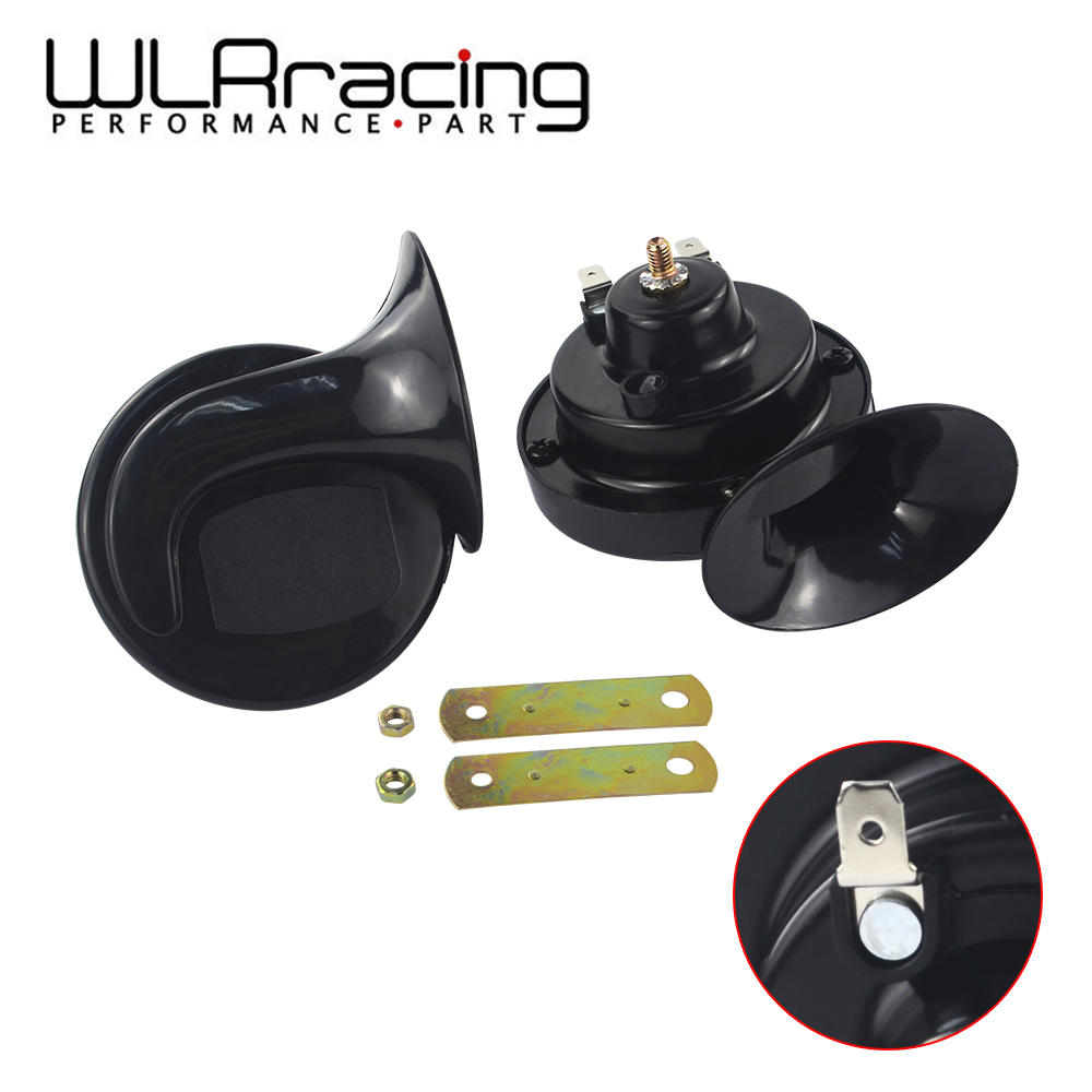 WLR - Hot Sale Long Life Time Car Horn Loud Sound Snail Horn 12v Car Styling Parts Tungsten Point Manganese Steel Auto Horn