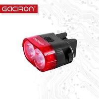 Gaciron Bike Tail Light Safety Warning 60 Lumens USB Rechargeable Bicycle Tail Lamp