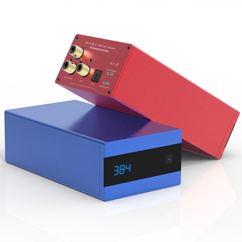 SMSL Sanskriet 10th SK10 MINI Hifi Digitale Decoder AK4490 PCM384 DSD256 DAC Pre out Accelerometer Ondersteuning OTG met Afstandsbediening controle-in Digitaal naar analoog Omvormer van Consumentenelektronica op  Groep 1