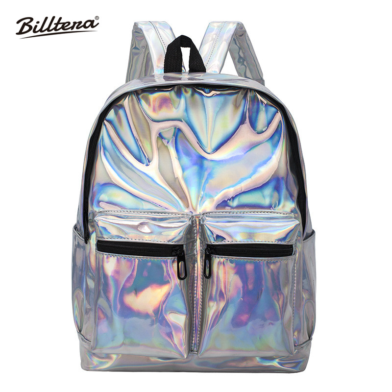 Laser, Backpacks, Backpack, Holographic, One, Zipper