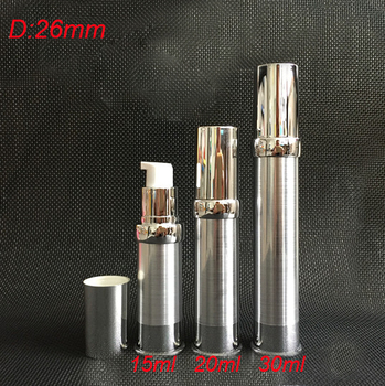 100pcs 20ml gold airless bottle with gold pump, 20ml  empty plastic airless pump bottle , 20 ml airless cosmetic packaging