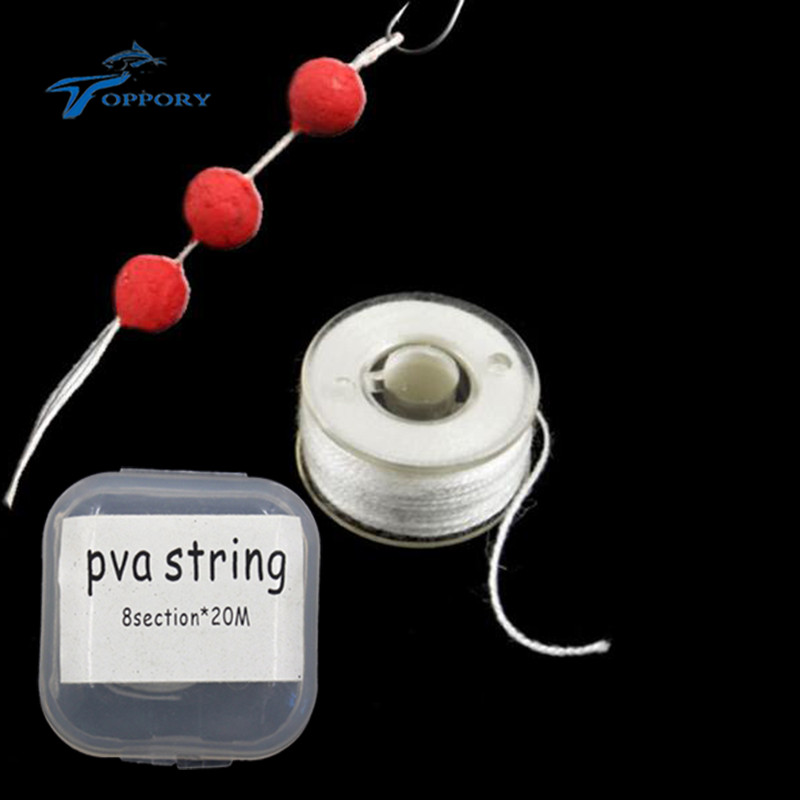 Topproy 1 PCS 20M PVA string for carp fishing bolies water soluble dissovling braided string carp fishing bait accessories 8 strands 1000m 65 150lb superpower kastking pe braided fishing line for deep water crank bass carp fishing multifilament
