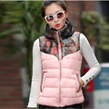 Autumn Winter New Fashion Women Ma3 jia3 Elegant Slim Big yards Printed Vest High quality Eiderdown Cotton Short Vest G2005