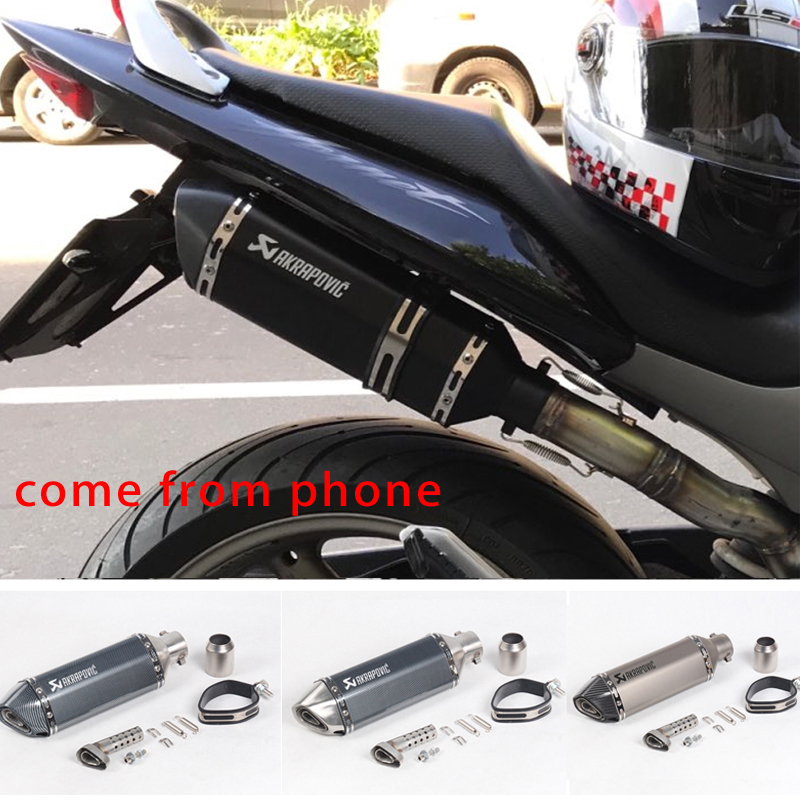 FREE SHIPPING akrapovic exhaust motorcycle muffler escape moto with db killer Exhaust Systems for honda benelli msx125 nmax EP01(China)