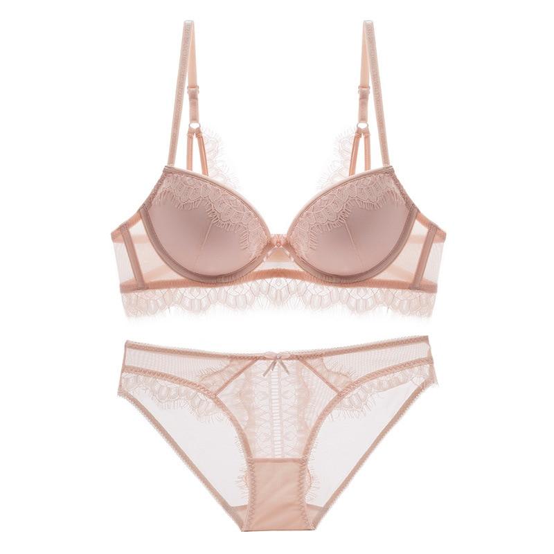70C   Bra     set   Buy More Big Discount Sexy   Bra     set   Women's push up Lace Underwear Panties Thin breathable underwear   set   Sexy