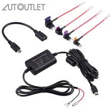 Autooutlet для универсального жесткого провода предохранителя автомобильный рекордер Dash Cam жесткий провод комплект+ Micro USB