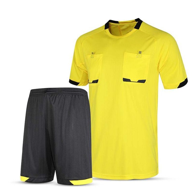 18ae4216b7 Conjunto De Camisa De Futebol 2017 de Futebol árbitro Juiz Uniforme Futbol  Shirt do Terno fatos