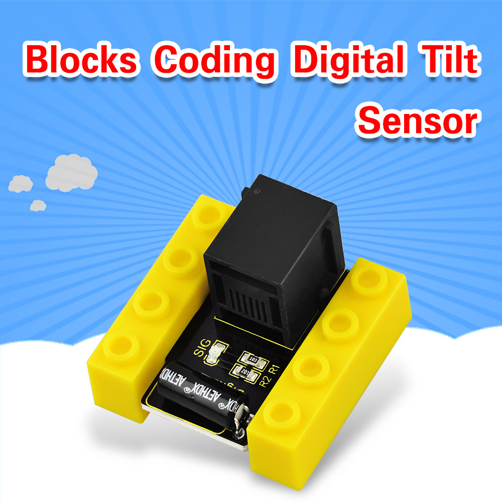 KD0019 Kidsbits Blocks Coding Digital Tilt Sensor For Arduino STEAM EDU (Black And Eco Friendly)