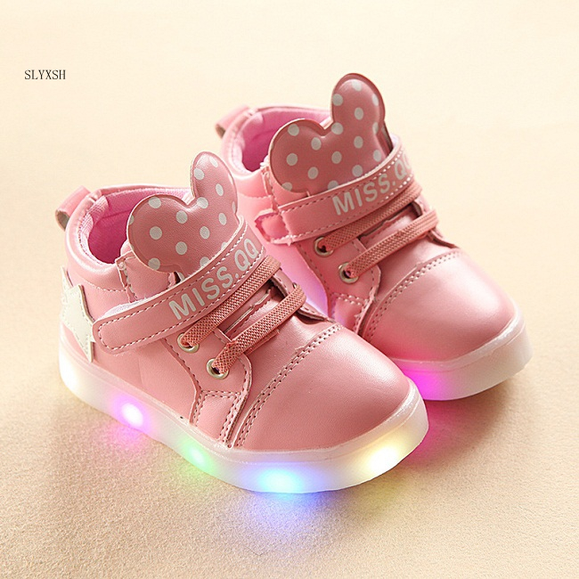 Children Cartoon Kitty Casual Shoes With Light New Breathable Sports Shoes Girls Flashing Led Fashion Glowing Sneakers 21-30 Fixing Prices According To Quality Of Products Mother & Kids