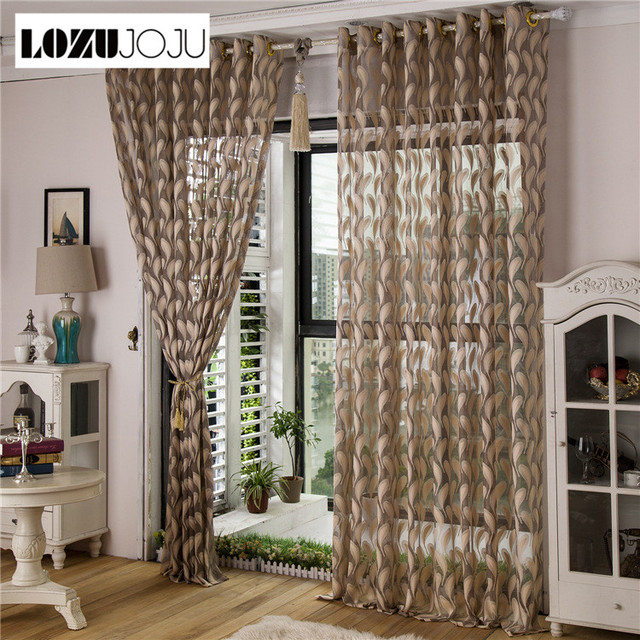 Lozujoju Free Shipping Feather Flowers Living Room Bedroom Curtains Models