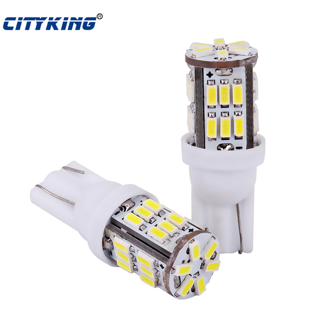 Free Shipping 100pcs T10 led 30smd 3014 SMD Car Bulb Car Auto LED T10 30led 194 W5W  Wedge Light Bulb Lamp t10 30SMD White light