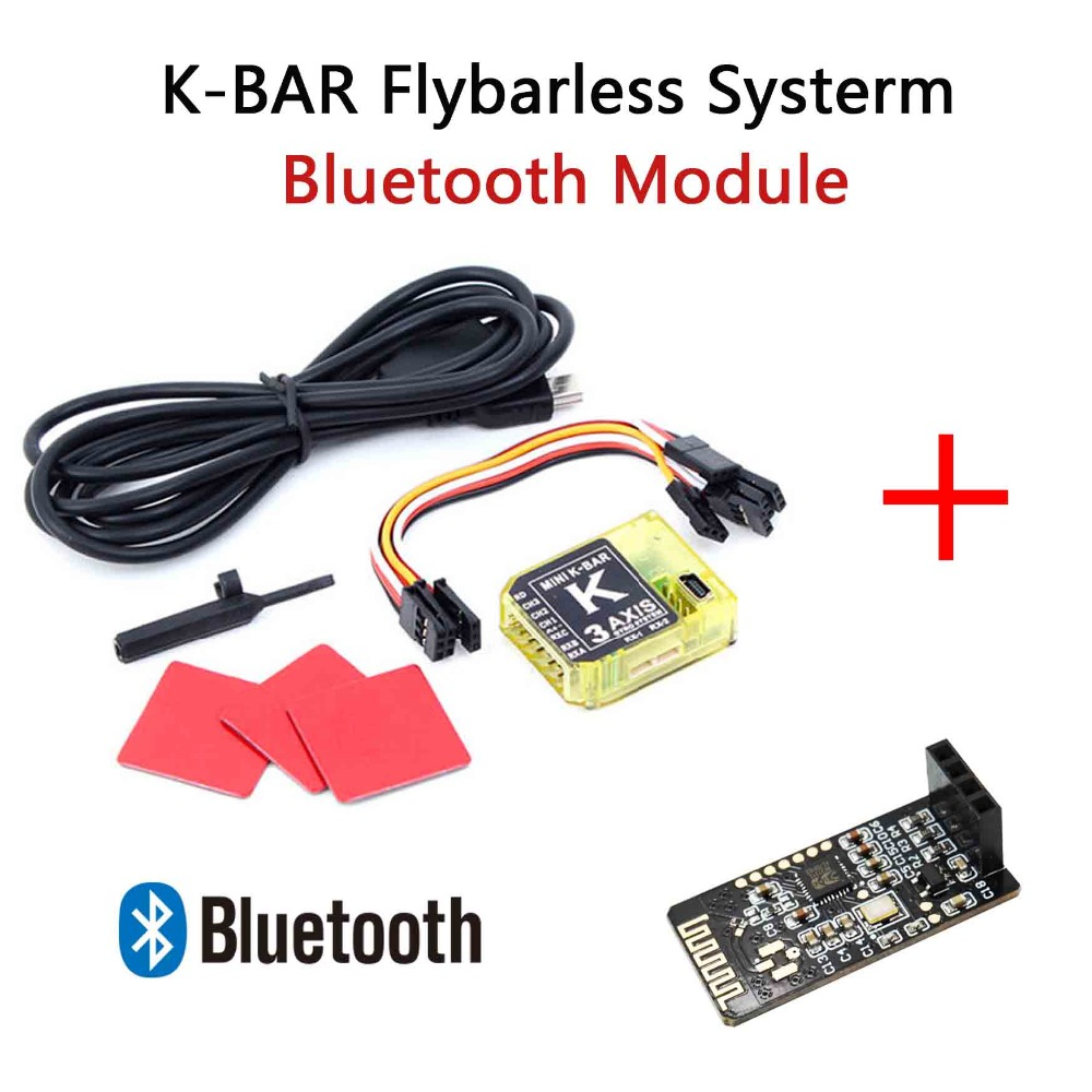 3Axis Gyro KBAR V2 5.3.4PRO K8 Flybarless Gyro Stabilization System For Mikado VBAR ALIGN T-REX 450 500 550 600 RC Helicopter