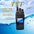 + Cable!!! tyt md398/md-398 impermeable dmr digital de mano radio de dos vías/walkie talkie ip67 10 w 400-470 mhz walkie talkie