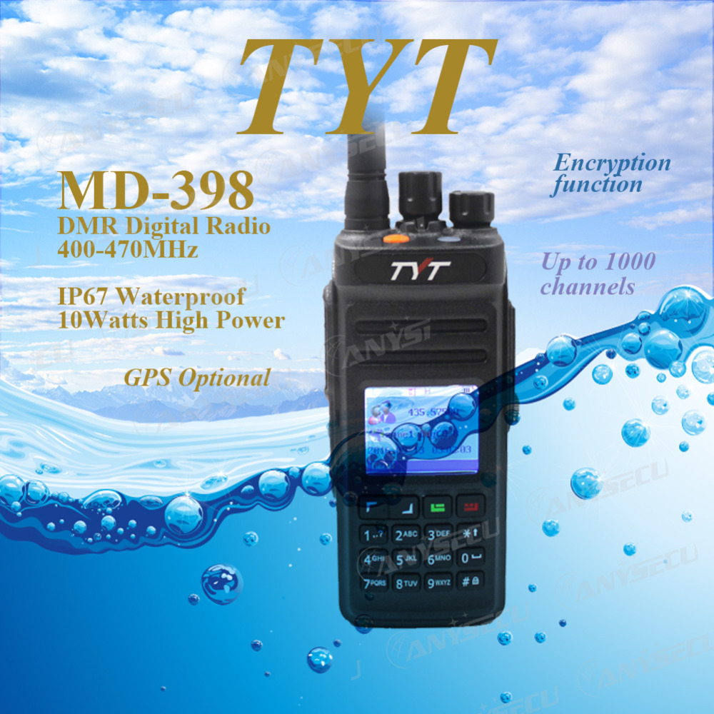 Cable!!! TYT MD398/MD 398 Waterproof DMR Digital Handheld