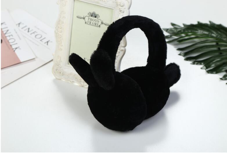 50pcs New Earmuffs For Women Imitation Rabbit Fur Winter Earmuffs Warm Female Cotton Ear Warmers Christmas Gifts Fur Earmuffs