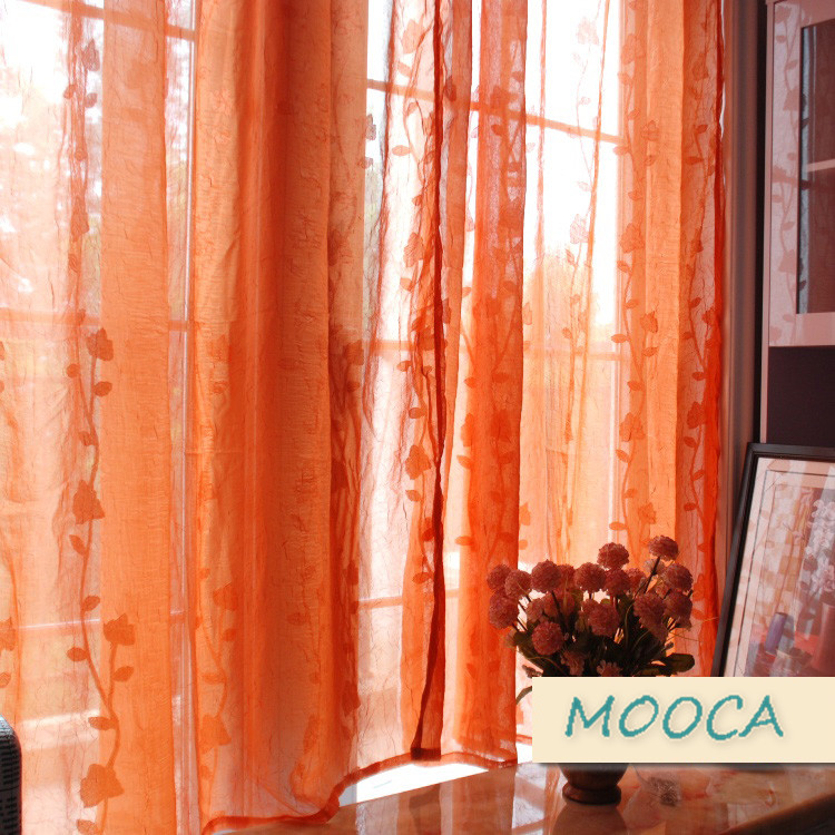 Where to find orange sheer curtains curtain menzilperde net for Where to buy drapery