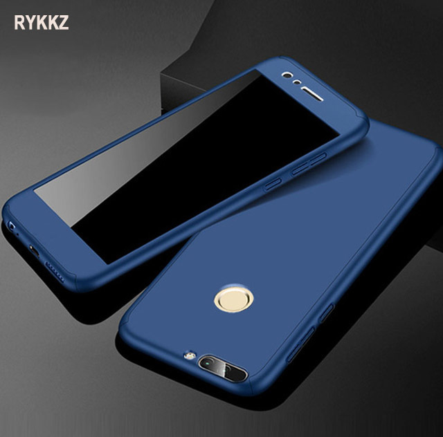 buy popular b4e91 96180 US $3.39 32% OFF|360 Full Protection Case For Huawei Honor 7a Pro Cover For  Honor7a 7 A 8X Nova 3i 3 p smart 2019 Phone Case With Tempered Glass-in ...