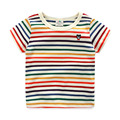 Boys T-shirt Stripe Bear Tshirt Kids Short Sleeve O-neck Summer Baby T Shirt Fashion Children Clothing 2422