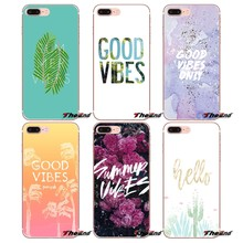 Good vibes summer Art Cell Phone Cover Bag For Sony Xperia Z Z1 Z2 Z3 Z5 compact M2 M4 M5 E3 T3 XA Aqua LG G4 G5 G3 G2 Mini Capa(China)