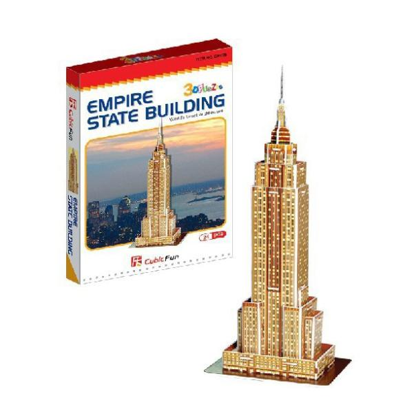 T0465 3D Puzzles Empire State Building DIY Building Paper Model kids Creative gift Children Educational toys Mini Version