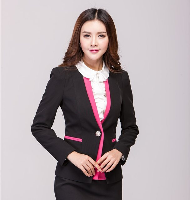 Online Shop Red Blazer Feminino Blaser Formal Blazer Women Winter ...