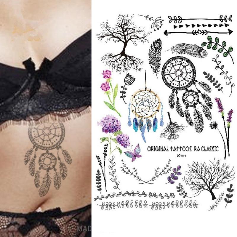 2017 gaya baru multi-style Mode Keren Temporarycre flash tattoo - Tato dan seni tubuh - Foto 2