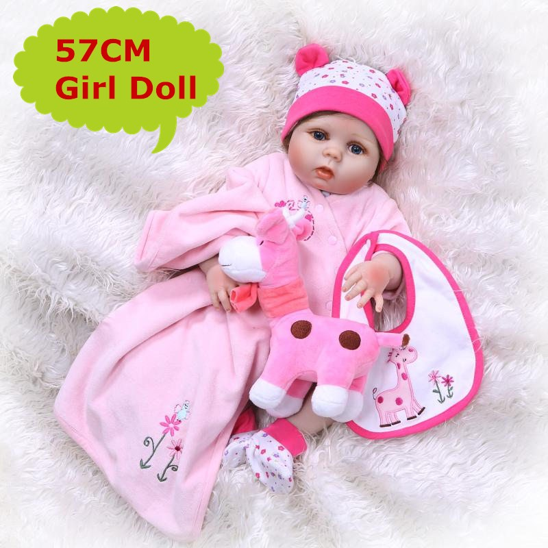 2018 New NPK Silicone Reborn Baby Dolls In Pink About 23 Inch Lovely Doll Reborn For