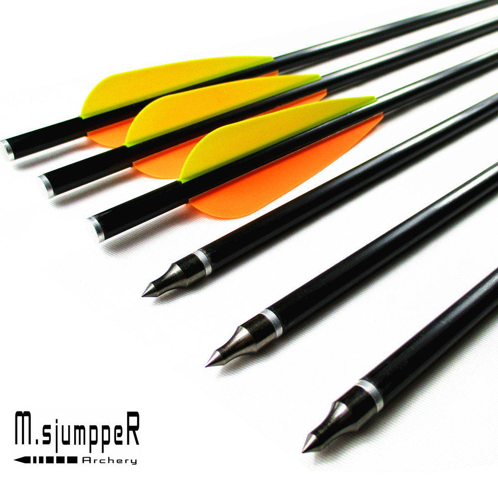 Arrows & Parts Archery Hunting Arrows Fiberglass Crossbow Bolts With