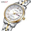 LONGBO luxury мужские кварцевые часы полная сталь Водонепроницаемый Бизнес Часы Ультра-тонкий Мода повседневная Брендов женщин часы 80146