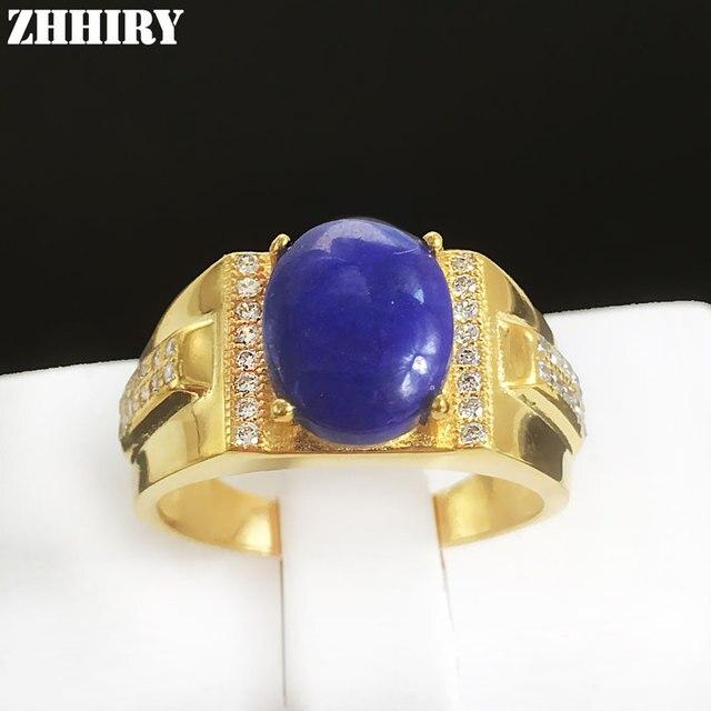 Человек кольцо природные Лазурит драгоценного камня Настоящее стерлингового серебра 925 мужчин кольца ювелирные изделия