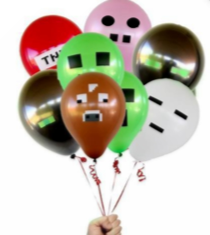 1000PCS 1lot Minecraft TNT Creeper Big Cow Balloons Latex Minecraft toys Festive Party Decorations Supplies Material