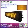 16 * 96 пикселей p10 крытый из светодиодов одного желтый электронный из светодиодов рекламный щит из светодиодов дисплей экран жк-такси верхней панели де из светодиодов letreiro