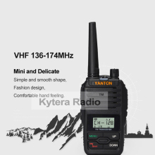 Yanton Mini Single Band VHF 136-174 Handheld Two Way Radio 5W Waterproof 199 Memory Channels Walkie Talkie Transceiver