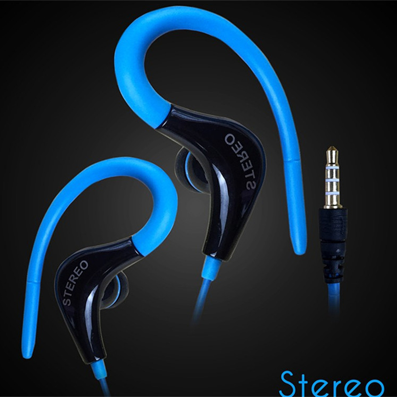 Sports Earphone Running Headphone With No Microphone 3.5mm In-Ear Stereo Earbuds Headset For Computer Cell Phone MP3 Music