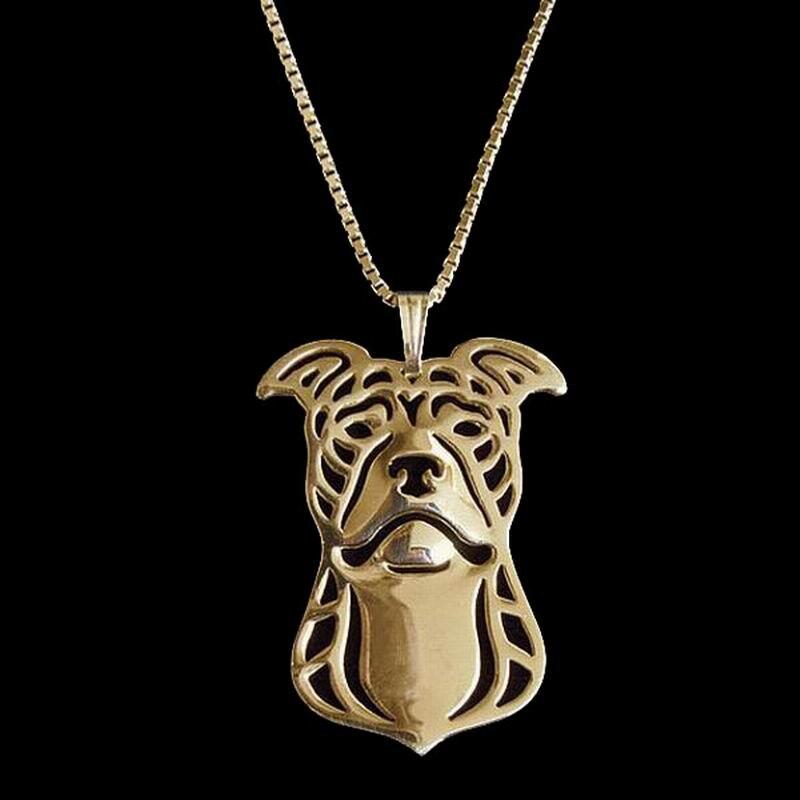 2018 новые женские ювелирные изделия сплава ожерелья для любителей питбультерьер (природные уши) кулон ожерелья Прямая доставка