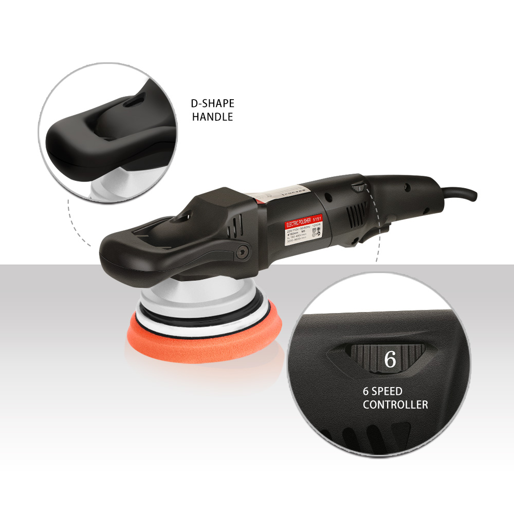 Forced Inch Pads Polisher 6 Car Action SPTA  Polishing Dual Polisher  Rotation 5inch Amp DA  Polisher