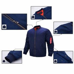 Image 5 - Chaqueta de uniforme de seguridad para hombre, chaqueta de vuelo cálida con cremallera, abrigo grueso de invierno, prendas de vestir, talla de EE. UU.