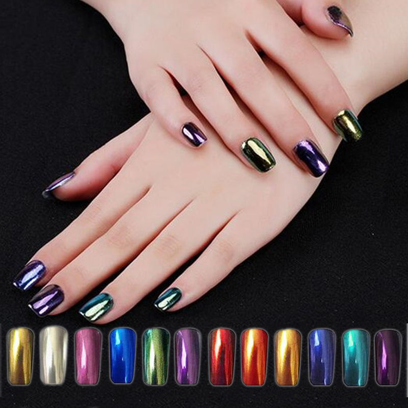 Hearty Outtop Nail Glitter 1 Box Gold/silver Glitter Aluminum Flakes Magic Mirror Effect Powders Sequins Nail Polish Decorations Oct23 Beauty & Health Nail Glitter
