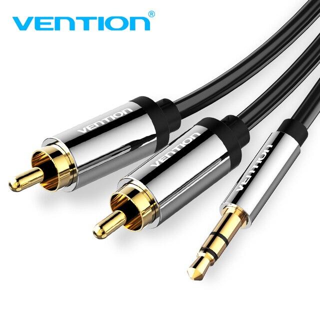 Vention RCA кабель 3,5-2RCA аудио кабель Jack 3,5 мм аудио стерео кабель для смартфона усилитель домашний кинотеатр DVD RCA Aux кабель