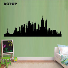 New York City Skyline Wall Sticker Children kids Decals Home Decorative for Living Room sofa background Bedroom Mural WallPaper new york a three dimensional expanding city skyline