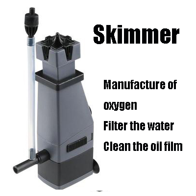 Aquarium Surface Protein Skimmer voor sunsun 3W 220V jy-02 skim