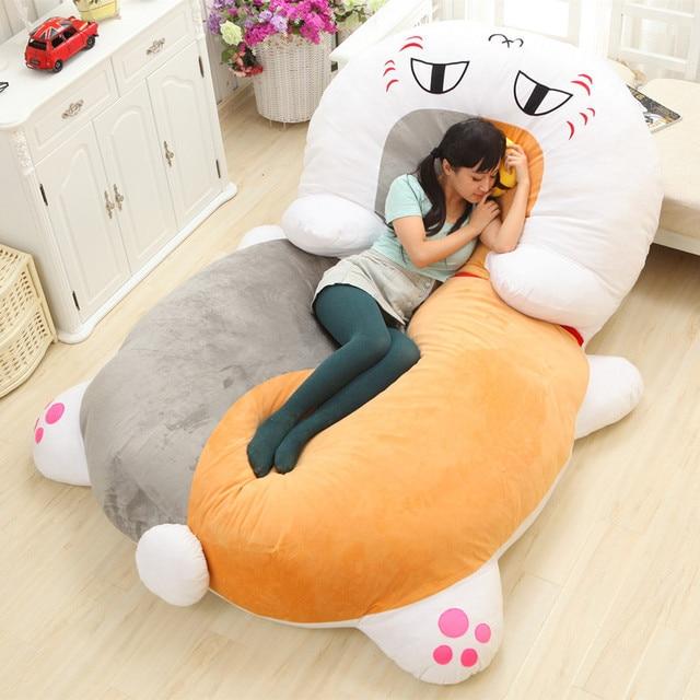 Supersized cat plush bed