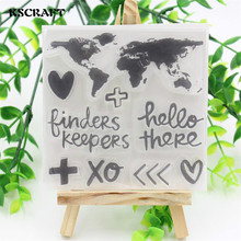 Kscraft Global Map Transparent Clear Silicone Stamps For Diy Sbooking Card Making Kids Fun Decoration Supplies