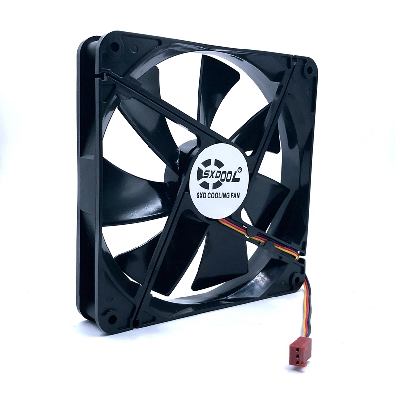 140mm Fan New DF1402512SEDN DC 12V 0.06A Sleeve 3-Pin 140x140x25mm Pc Case Server Cooling Fan 1050RPM