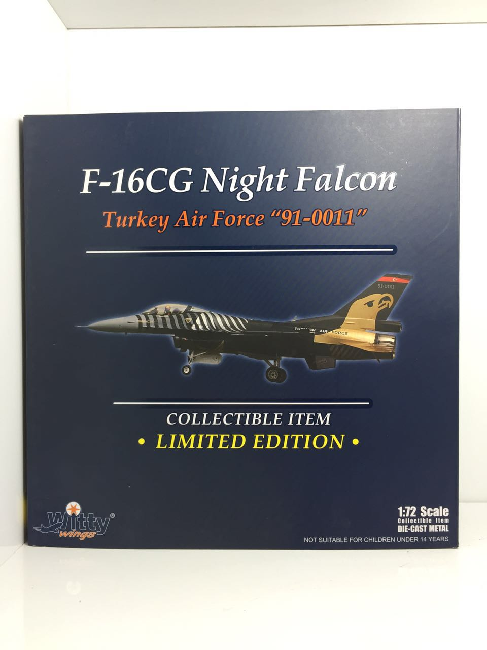 Witty 010-031 F-16CG Fighting Falcon Turkey air force  91-0011 1:72 Finished Model