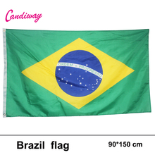 3ftx5ft Brazil Flag 150x90cm custom flag banner national flags Super-Poly Indoor/Outdoor Brasil FLAG Country Banner(China)